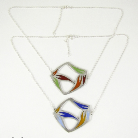 Sula Large Pendants with full chains by Chelsea E. Bird