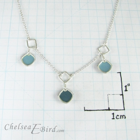 Chelsea Bird Designs Chroma 3 Piece Necklace Teal Size
