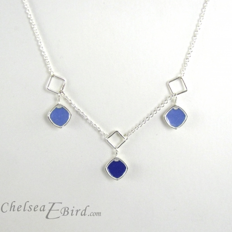 Chelsea Bird Designs Chroma 3 Piece Necklace Blue