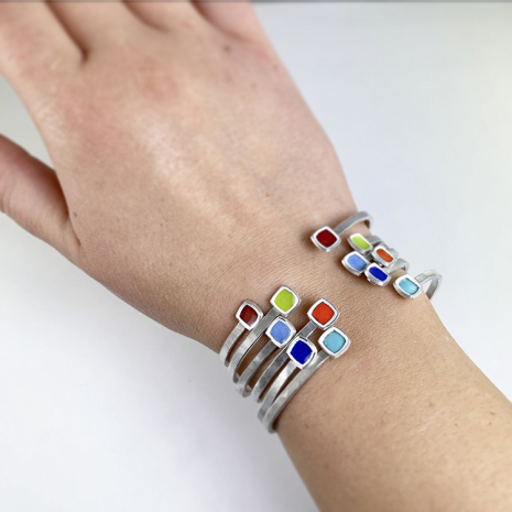 Chroma Cuff Bracelets on by Chelsea E. Bird