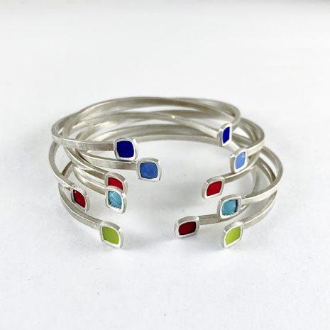 Chroma Cuff Bracelets by Chelsea E. Bird