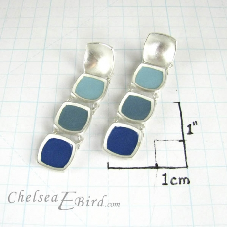 Chelsea Bird Designs Chroma Gradient Earrings Teal Size