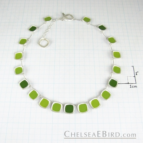 Chelsea Bird Jewelry Chroma Full Necklace Green Size