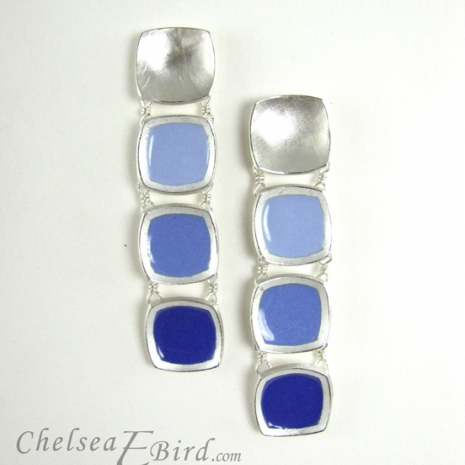 Chelsea Bird Designs Chroma Gradient Earrings Blue