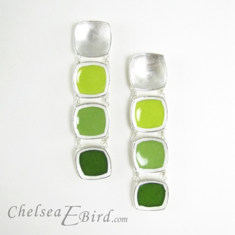 Chelsea Bird Designs Chroma Gradient Earrings Green