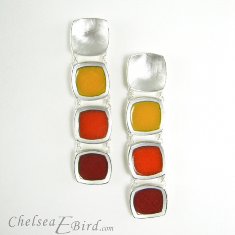 Chelsea Bird Designs Chroma Gradient Earrings Red