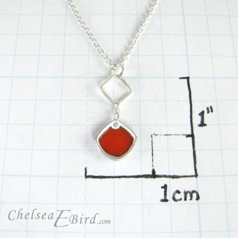 Chelsea Bird Designs Chroma Single Orange Pendant Size