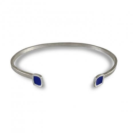 Chroma Cuff Bracelet Royal Blue by Chelsea E. Bird
