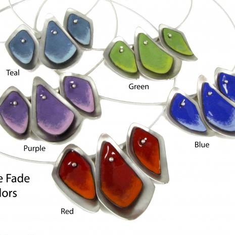 Chelsea Bird Designs Flame 3 Piece Necklace Colors