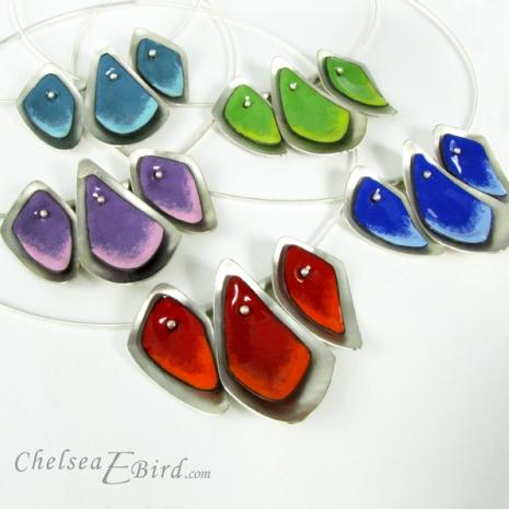 Chelsea Bird Designs Flame 3 Piece Necklaces