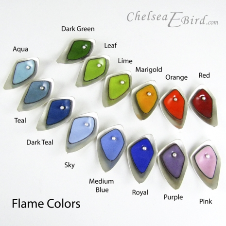 Chelsea Bird Jewelry All Flame colors