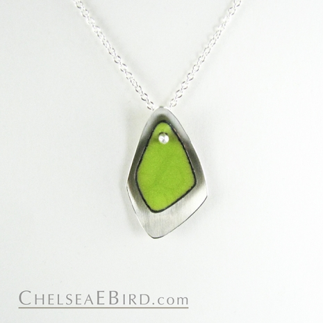 Chelsea Bird Jewelry Flame Small Lime Pendant