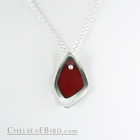 Chelsea Bird Jewelry Flame Small Red Pendant