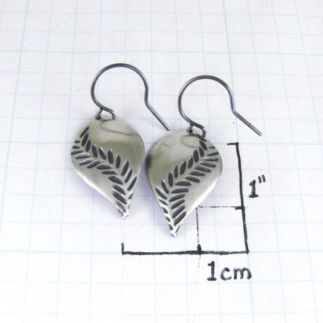 Chelsea Bird Jewelry Parra Large Patina Hook Earrings Size