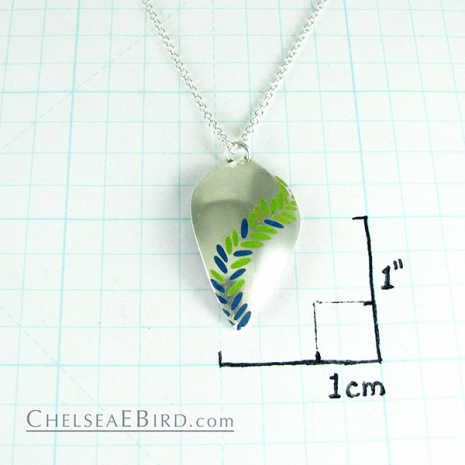 Chelsea Bird Jewelry Parra Large Enameled Pendant Lime/Teal Size
