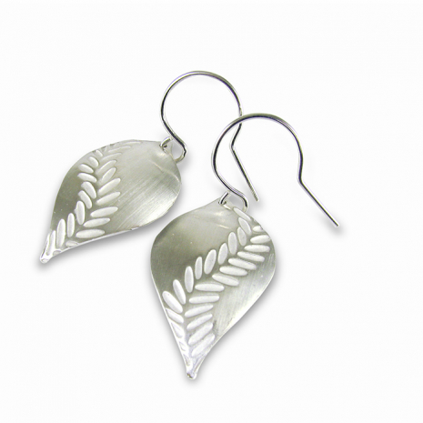 Chelsea Bird Jewelry Parra Large Silver Hook Earrings