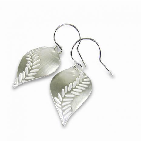 Chelsea Bird Jewelry Parra Large Silver Hook Earrings