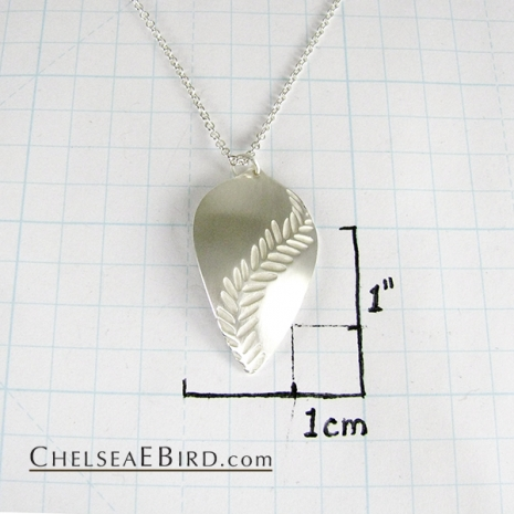 Chelsea Bird Jewelry Parra Large Silver Pendant Size
