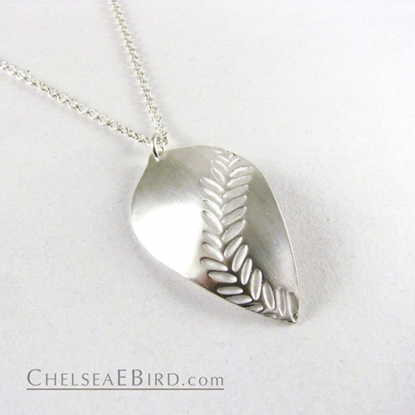 Chelsea Bird Jewelry Parra Large Silver Pendant