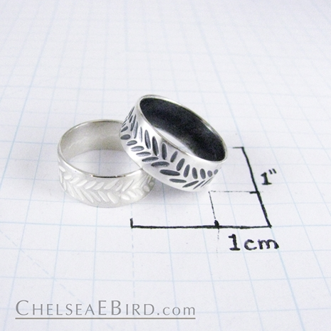 Chelsea Bird Parra Braid Band Ring Silver or Patina
