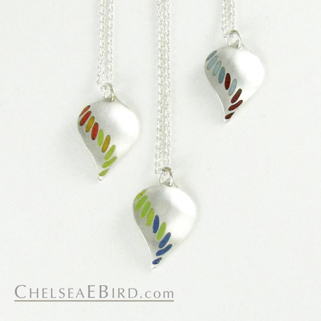 Chelsea Bird Jewelry Parra Medium Enameled Pendants