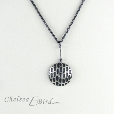 Chelsea Bird Designs Pixel Large Round Patina Pendant