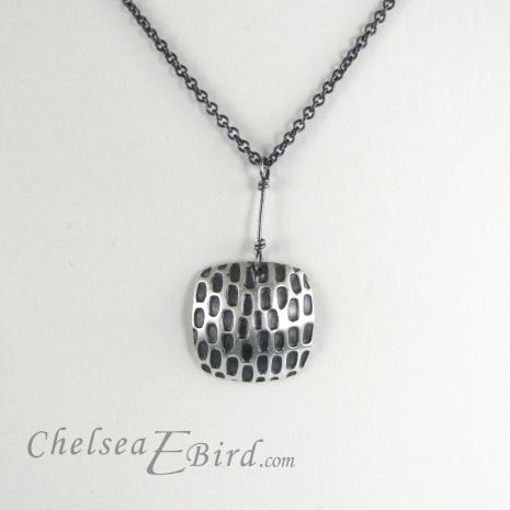 Chelsea Bird Designs Pixel Large Square Patina Pendant