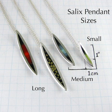 Salix Pendant Sizes by Chelsea E. Bird