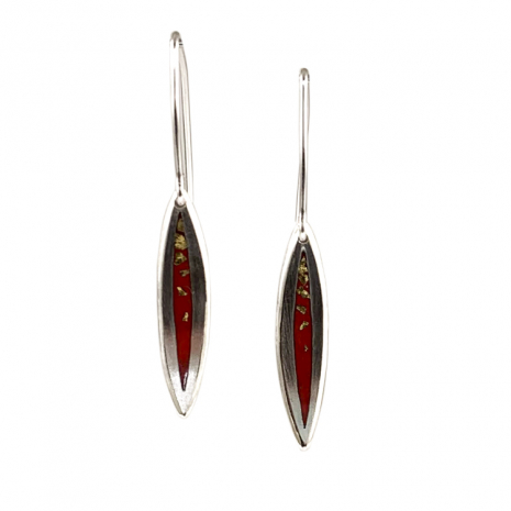 Salix Red and Gold SM Hooks by Chelsea E. Bird