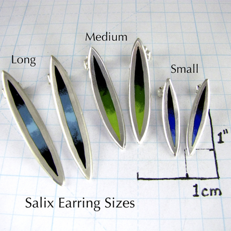 Salix Stud Earring Sizes by Chelsea E. Bird