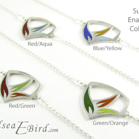 Sula Pendants with colors listed by Chelsea E. Bird