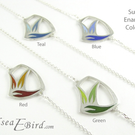 Sula Pendants with color names by Chelsea E. Bird