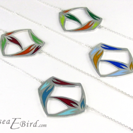Sula Large Pendants with contrasting colors by Chelsea E. Bird