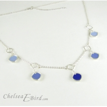 Chelsea Bird Designs Chroma 5 Piece Blue Necklace