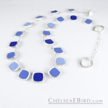 Chelsea Bird Jewelry Chroma Full Blue Necklace