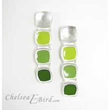 Chelsea Bird Designs Chroma Gradient Earrings Green