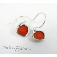 Chelsea Bird Designs Chroma Orange Hook Earrings