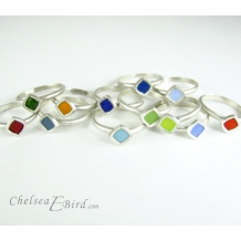 Chelsea Bird Designs Chroma Small Rings all Colors
