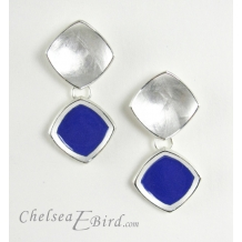 Chroma Royal Stud Drop Earrings by Chelsea E. Bird