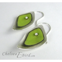 Chelsea Bird Designs Flame Lime Hook Earrings