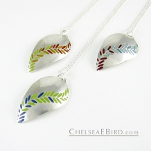 Chelsea Bird Jewelry Parra Large Enameled Pendants