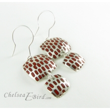 Chelsea Bird Designs Pixel Double Square Enameled Hook Earrings