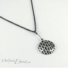 Chelsea Bird Designs Pixel Large Round Patina Pendant