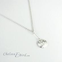 Chelsea Bird Designs Pixel Small Round Silver Pendant