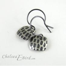 Chelsea Bird Designs Pixel Small Square Patina Hook Earrings