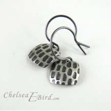 Chelsea Bird Designs Pixel Small Square Patina Hook Earrings