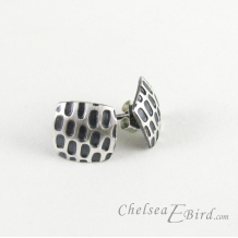 Chelsea Bird Designs Pixel Small Square Patina Stud Earrings