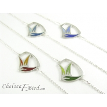 Sula Small Flower Pendants with color family options by Chelsea E. Bird