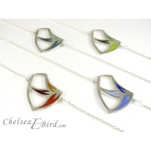 Sula Small Sail Pendants in Teal, Green, Red and Blue. By Chelsea E.Bird